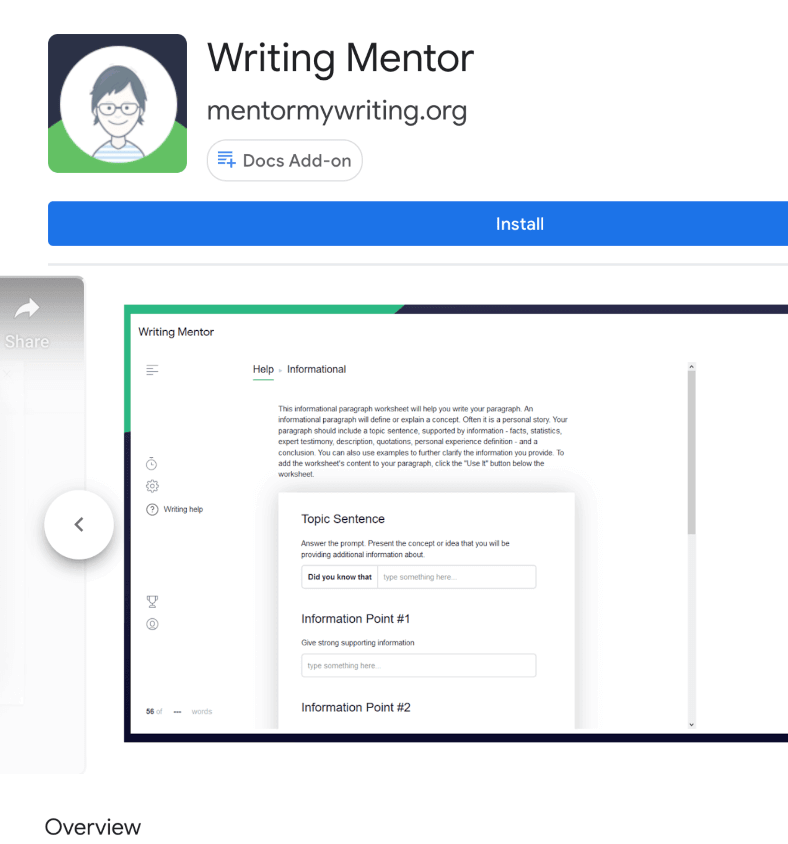 Additional Line of Writing Add On